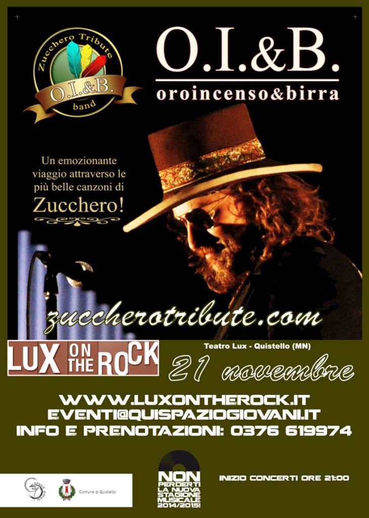 Concerto Cover Band Zucchero
