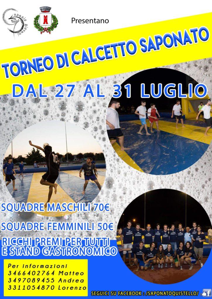 Torneo su campo di Calcetto Saponato a Quistello (MN)